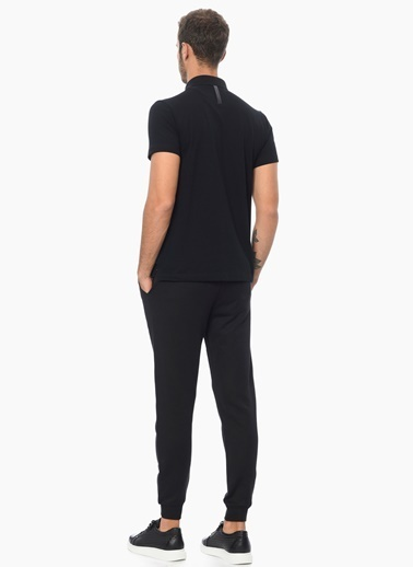 Que Slim Fit Polo Yaka Tişört Siyah